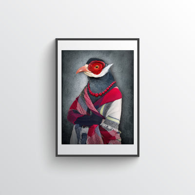 Bird In Scarf
