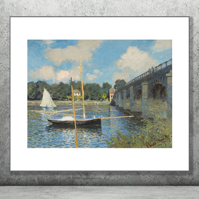 Art print of The Bridge at Argenteuil, Monet.