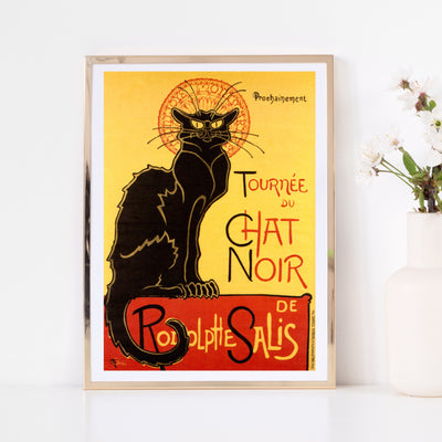 Art print of vintage poster Chat Noir. Browse our online art print store or visit our art prints shop in Temple Bar, Dublin.