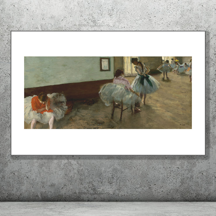 Art print of The Dance Lesson, Edgar Degas.