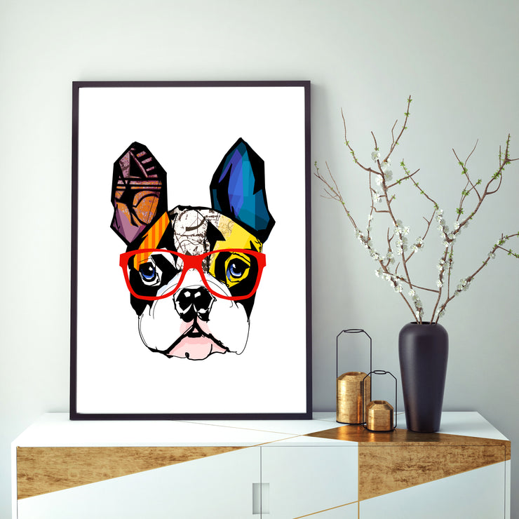 Pug In The Know - Art Print
