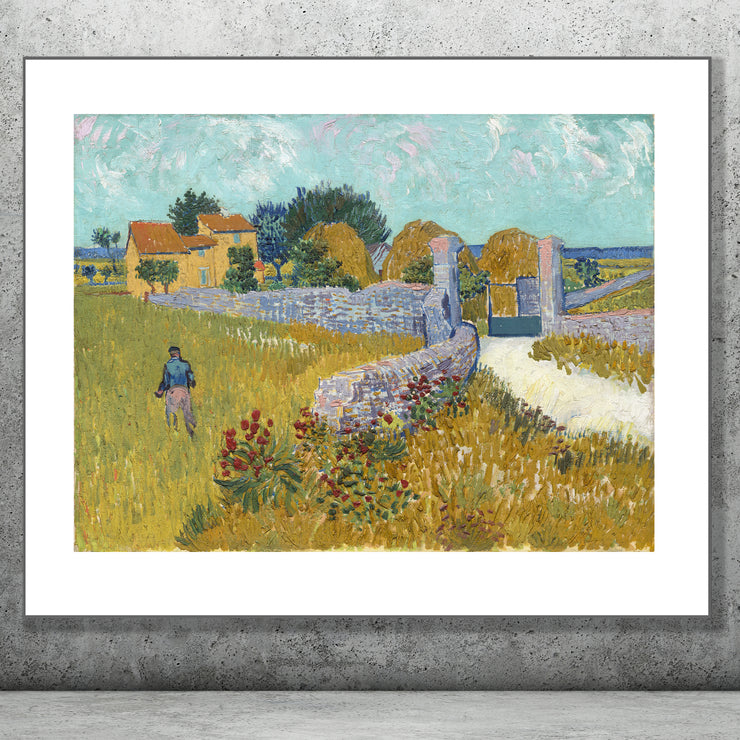 Art print of Farmhouse In Provence by Van Gogh.