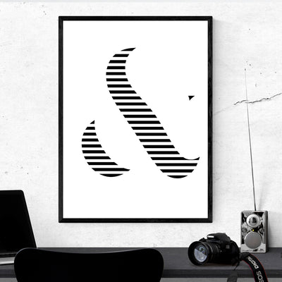 Broken Line Ampersand - Art Print