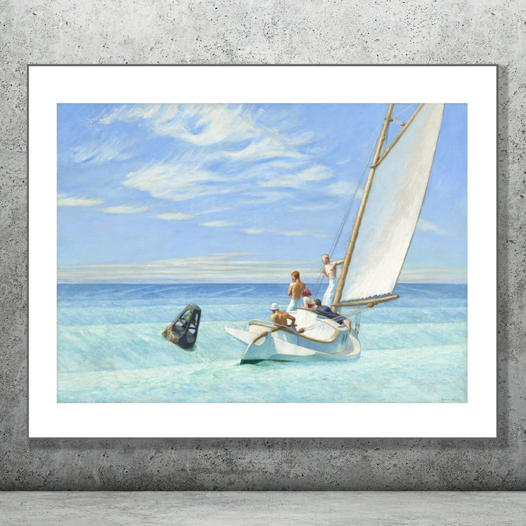 Art print go Ground Swell by Edward Hopper.