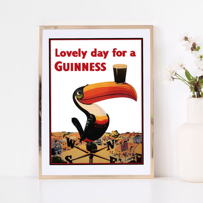 Art print of vintage poster by Guinness. Browse our online art print store or visit our art print shop in Temple Bar, Dublin.
