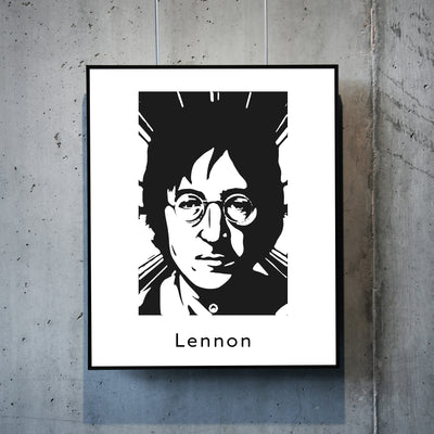 Art print of John Lennon. Browse our online art prints store or visit our art prints shop in Temple Bar, Dublin.