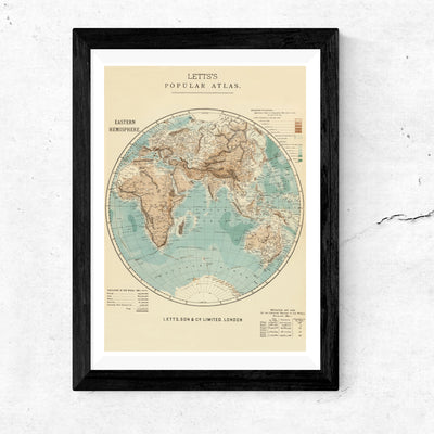 Art print of vintage map. Browse our online fine art print shop or visit out fine art print shop in Temple Bar, Dublin.