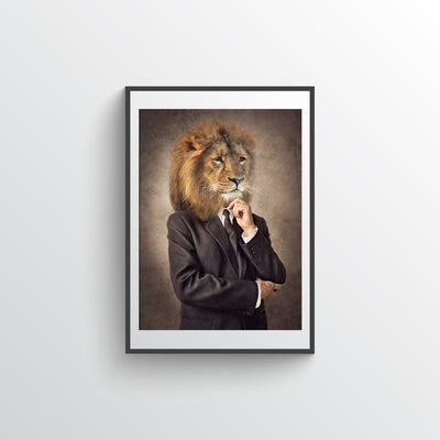 Lion In Suit