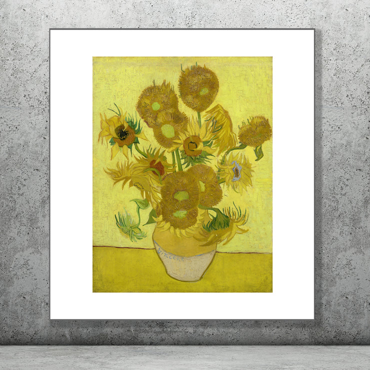Art print of Sunflowers by Vincent Van Gogh.
