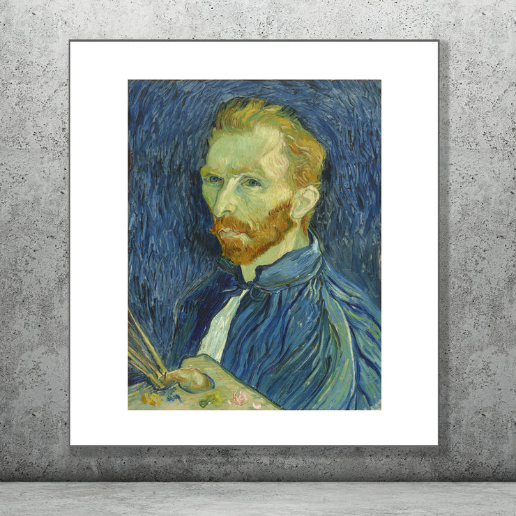 Art print of Self Portrait by Vincent Van Gogh.