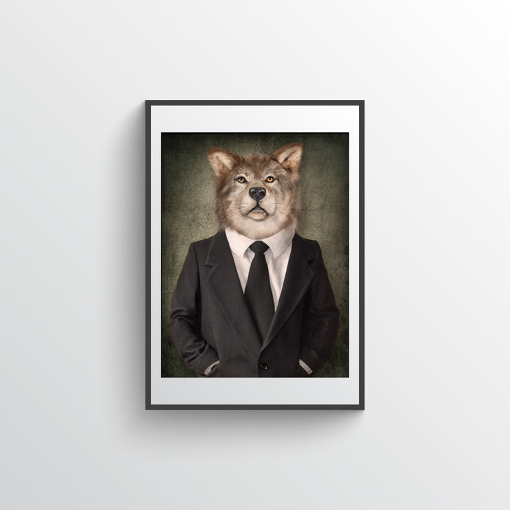 Wolf In Suit - Art Print