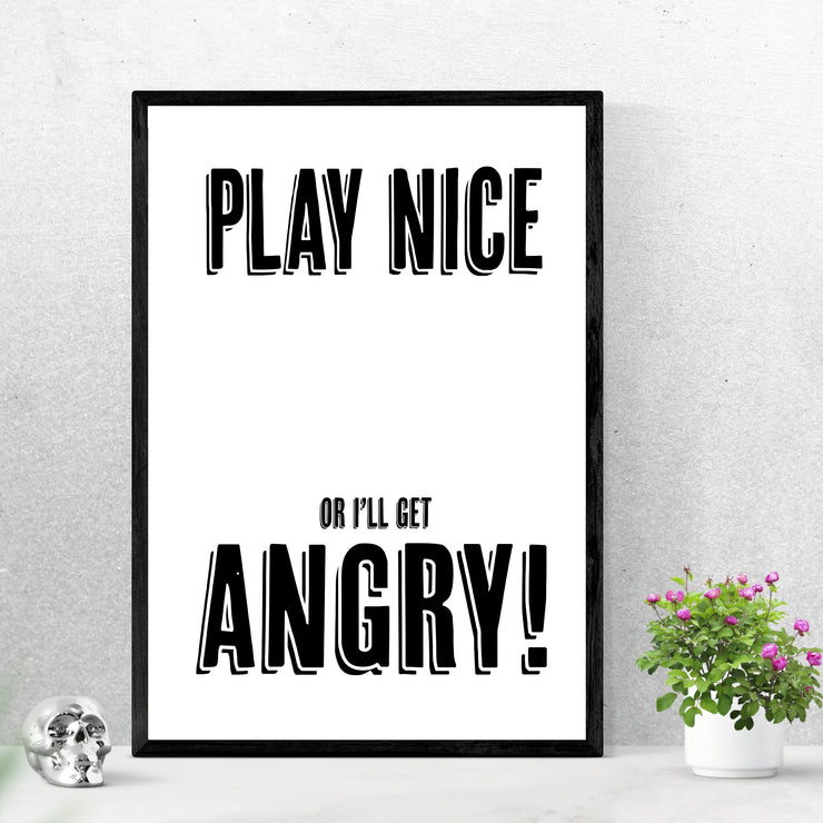 Art prints of catchy words and phrases. Browse our online art prints store or visit our art prints shop in Temple Bar, Dublin.