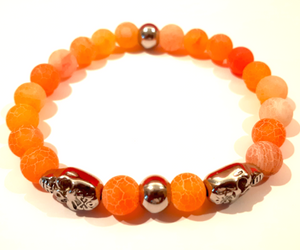 Bracelet FASHION Skull orange