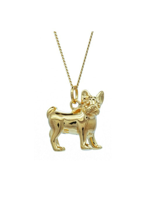 French Bulldog in Gold Pendant