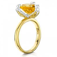 Load image into Gallery viewer, Citrine & Bee Ring