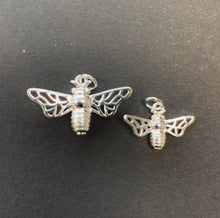 Load image into Gallery viewer, Small Silver Honey Bee Necklace