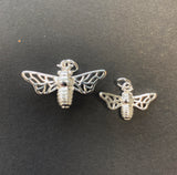 Silver Honey Bee Necklace - Strange of London