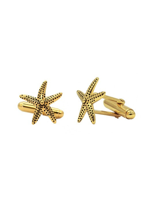 Mens Star Fish Cufflinks - Strange of London