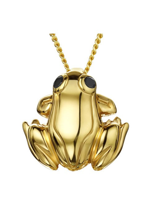 Golden Frog Pendant