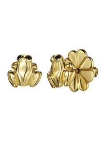 Gold Frog Stud earnings - Strange of London