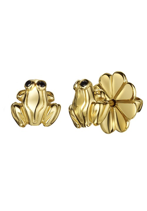 Gold Frog Studs
