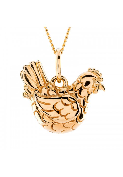 Hen Pendant in Gold