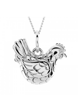Load image into Gallery viewer, Hen Pendant in Silver