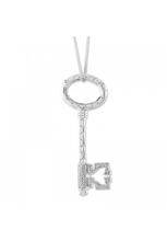 Load image into Gallery viewer, Silver Bee Key Pendant