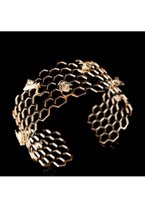 Honeycomb and Bee Cuff