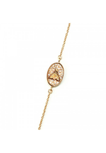 Load image into Gallery viewer, Honey Bee Crystal Bracelet in gold
