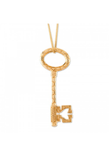Load image into Gallery viewer, Gold Bee Key Pendant