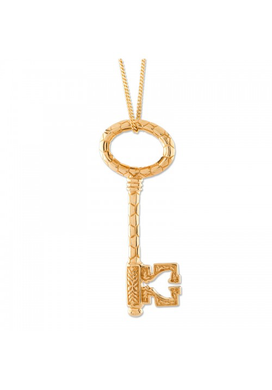 Gold Bee Key Pendant
