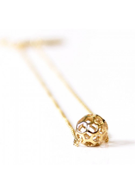 Honeycomb Ball Necklace