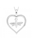 Heart and Bee Pendant