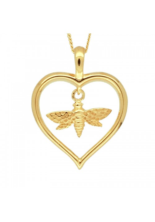 Bee and Heart Pendant - Strange of London