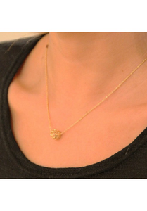 Honey Comb Ball Necklace