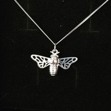 Load image into Gallery viewer, Silver Honey Bee Necklace