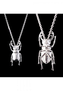 Silver Stag Beetle Pendant - Strange of London