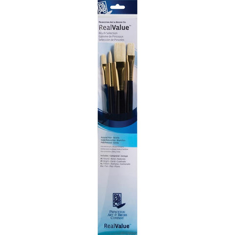 Natural Bristle Real Value Brush Set