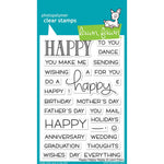 Happy Happy Happy 4x6 Clear Stamps