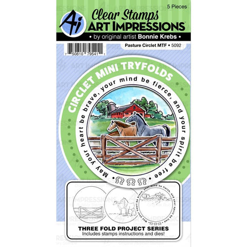 Circlet Mini Tryfolds Pasture Stamp & Die Set