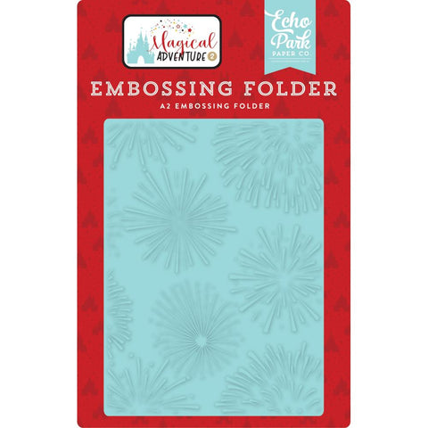 Magical Adventure II Fireworks Magic A2 Embossing Folder