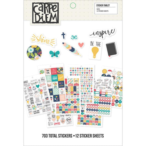 Carpe Diem Sticker Tablet: Faith