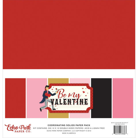 Be My Valentine 12x12 Solids Kit
