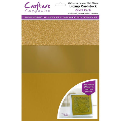 Gold Luxury Cardstock Pack