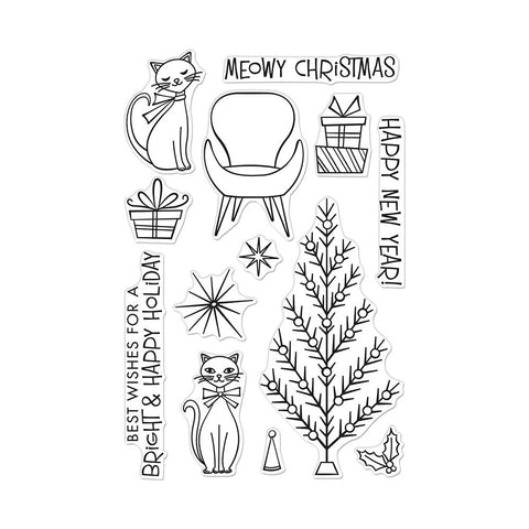 Meowy Christmas 4x6 Clear Stamps