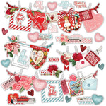 Simple Vintage My Valentine Banners 12x12 Sticker Sheet