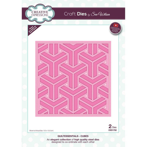 Sue Wilson Quiltessentials Cubes Craft Dies