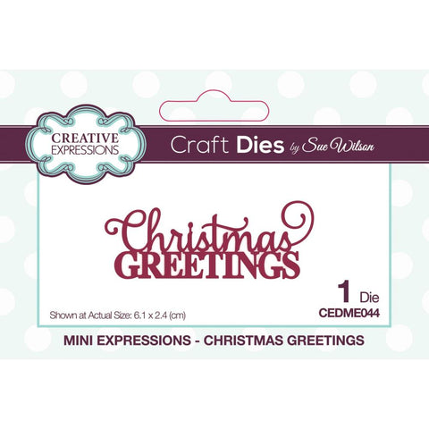 Sue Wilson Mini Expressions Christmas Greetings Craft Dies
