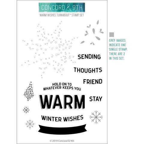 Warm Wishes Turnabout 4x6 Clear Stamps